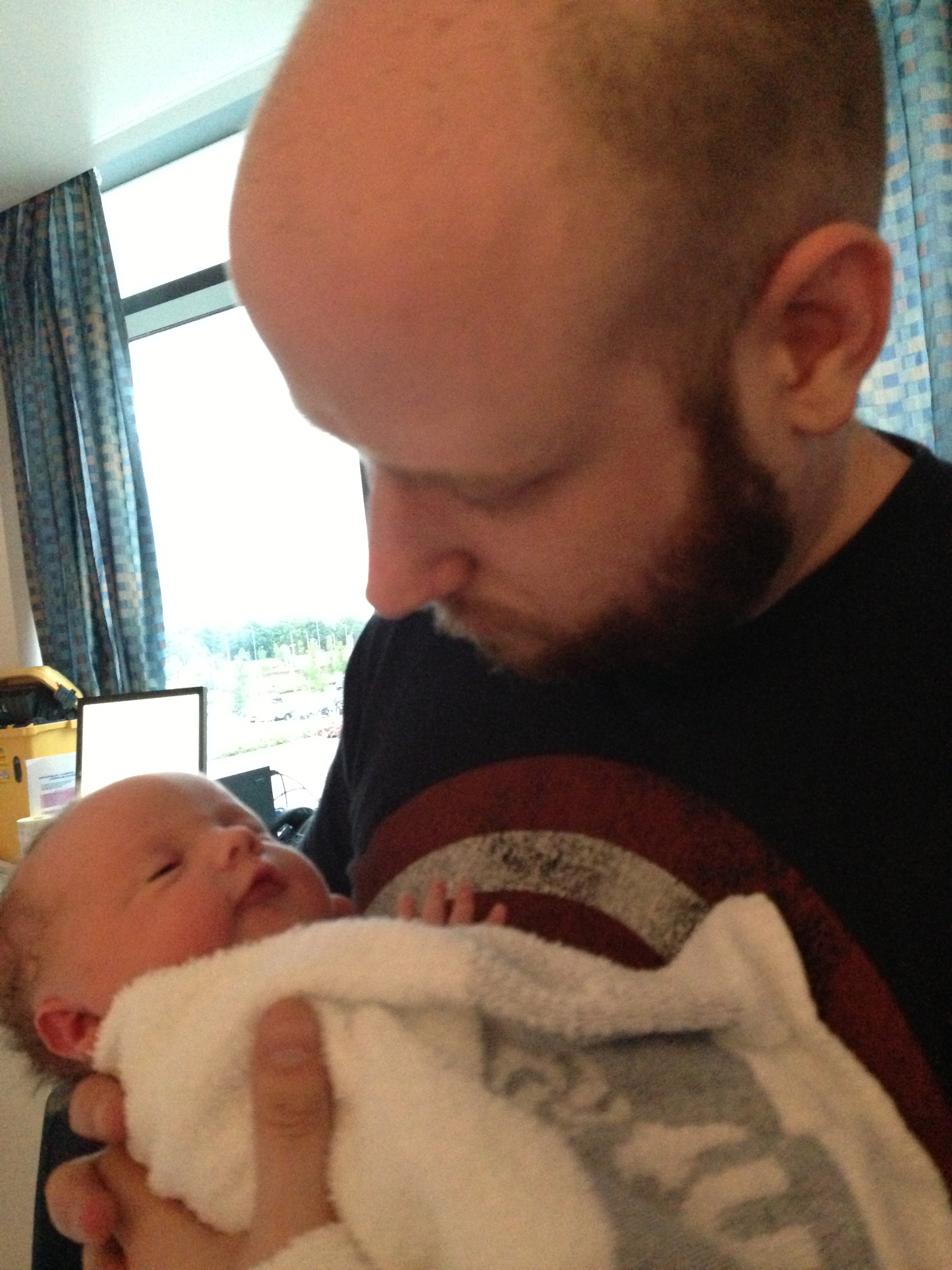 Daddys first hold