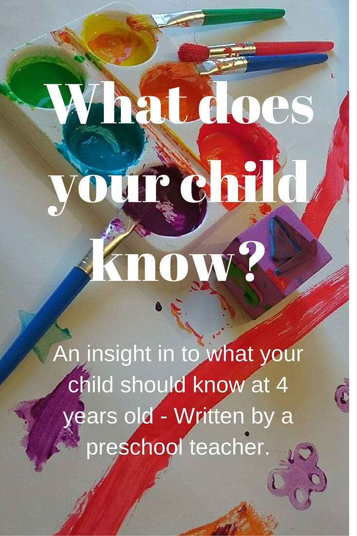 What does your child know-