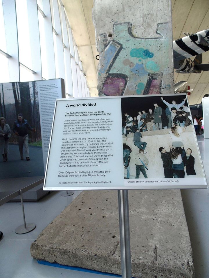 Part of the Berlin Wall in the American Air Museum