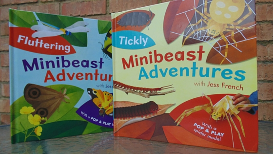 Feelers out, what's about? New Minibeast Adventures books by Jess French, known for her cbeebies show Minibeast adventures with Jess