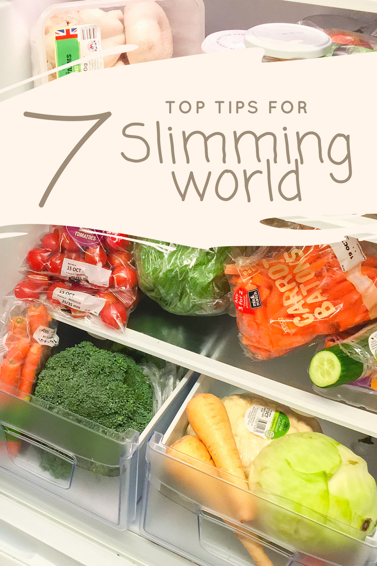 7 awesome top tips for slimming world members. Perfect for when you just start or when you lose your way!