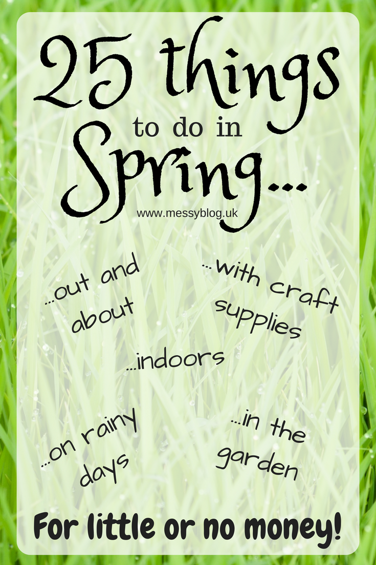 A whole FREE list of things to do in spring for little or no money - whatever the weather!
