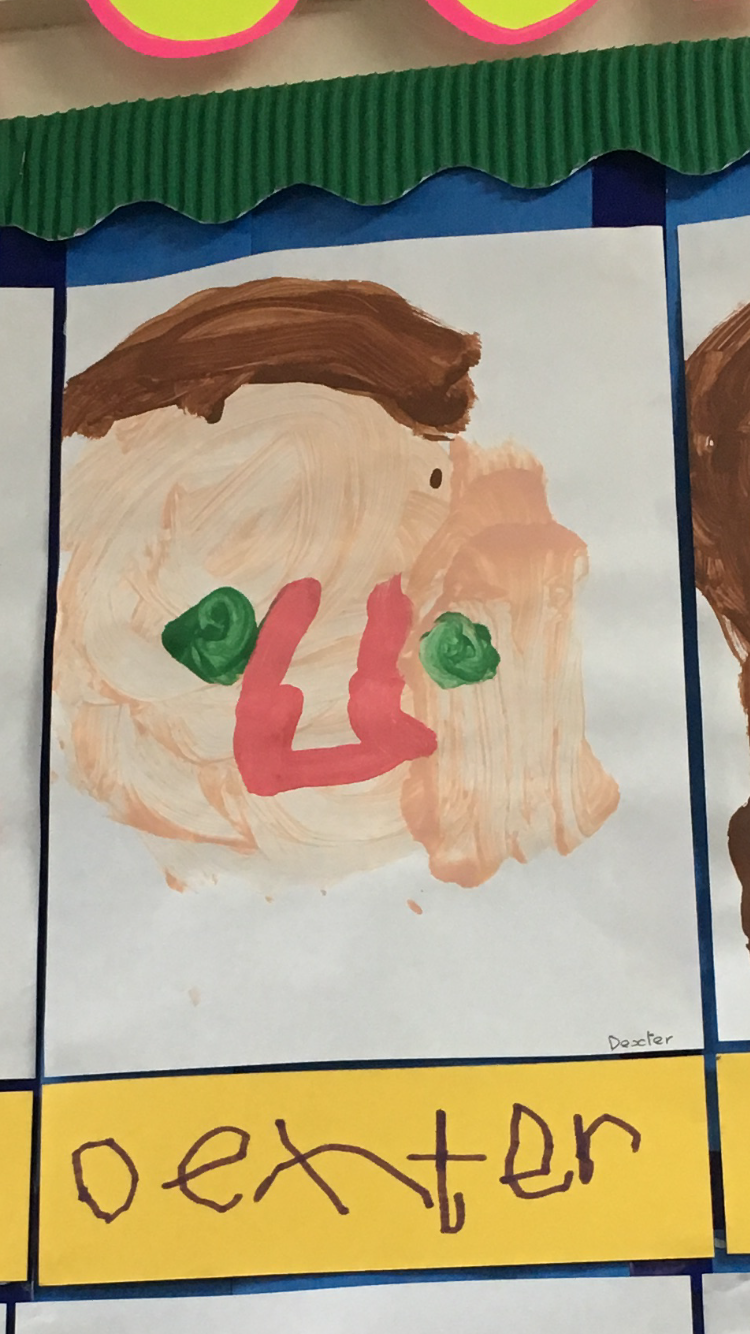 Childs Painting. Self portrait