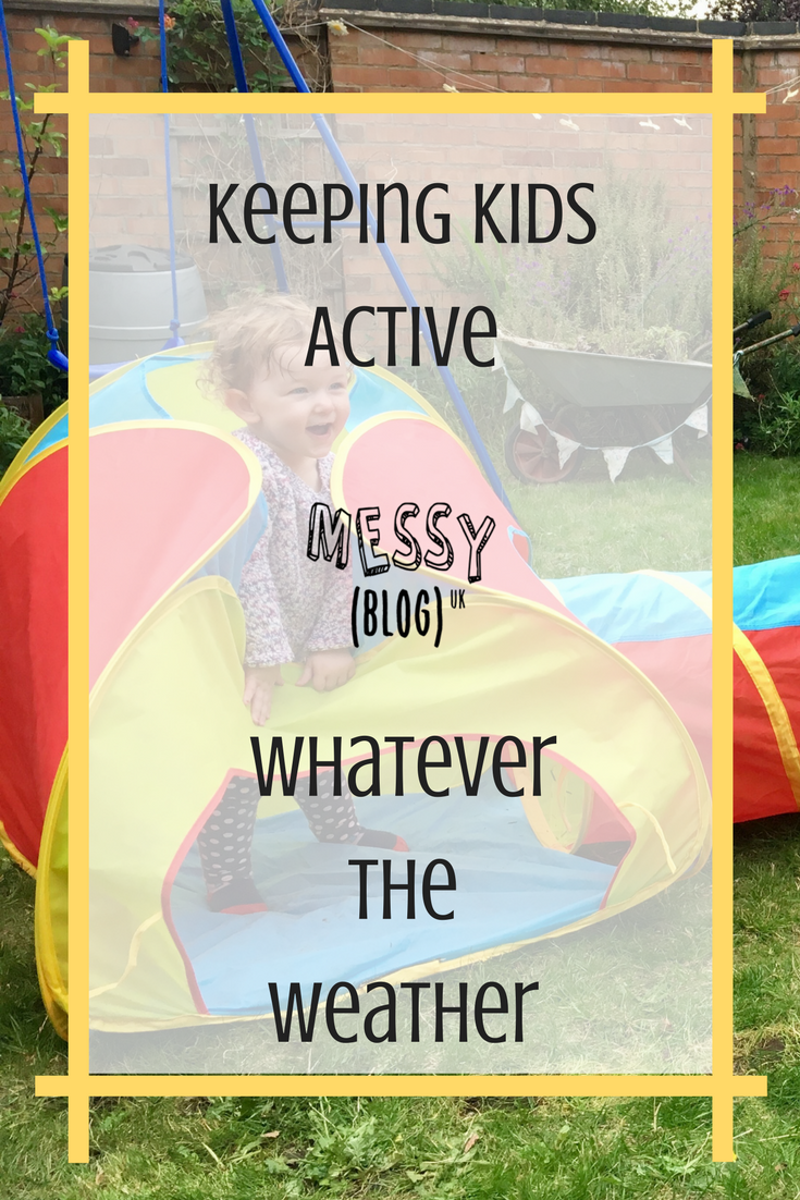 Pinterest Pin - Keeping kids active, whatever the weather
